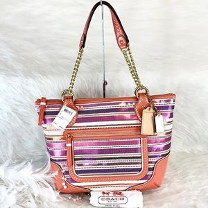 New COACH 23843 Multicolor Poppy Sequins SM Tote